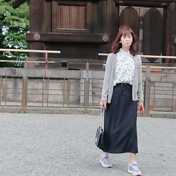 ユニクロの「ライトなグレー」カーディガンで京都の東寺へ