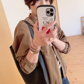MUJI LABOの起毛ドロップショルダースタンドカラーシャツが使えます♡
