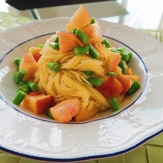 透明感のあるお肌になれる♪桃の冷製カッペリーニで胃腸をケア