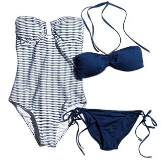 海でもプールでも! アラフォーを素敵に見せる、カジュアルリッチな水着