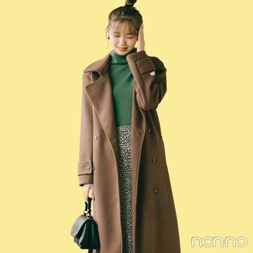 ブラウン&グリーン、旬な配色で冬コーデをアップデート【毎日コーデ】