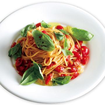 <有元葉子さん・神レシピ3>トマトとにんにくのパスタ