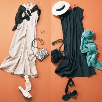 50代が夏に着たい『大人の揺れワンピース』は裾にかけてのボリュームが女らしい
