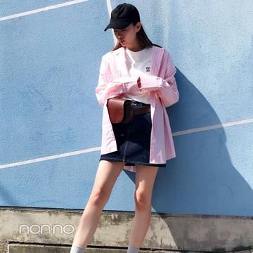 泉はるの韓国っぽビッグシャツコーデ【毎日コーデ】