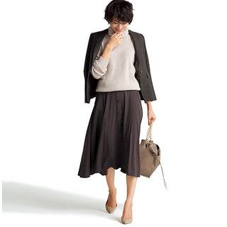 今年注目の色「ブラウン」!スカートを着回して実力を検証!
