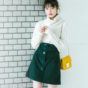 台形ひざ丈スカート、秋冬はどんなコーデがおしゃれにキマる?