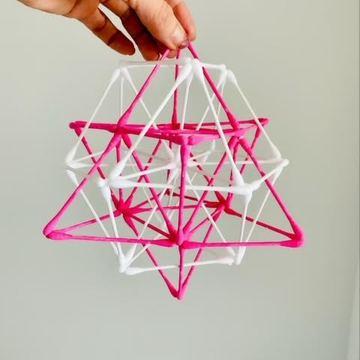 今 ハマっている 神聖幾何学の綿棒ワーク✨