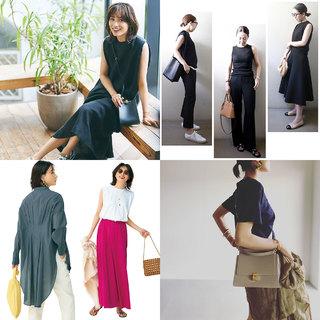 秋の気配を感じるオールブラックコーデからアラフォーのための細見え服まで【ファッション人気記事ランキングトップ10】