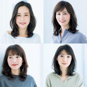 【ミディアムヘアカタログ】カールや毛束の動きでふんわり感をアピール!