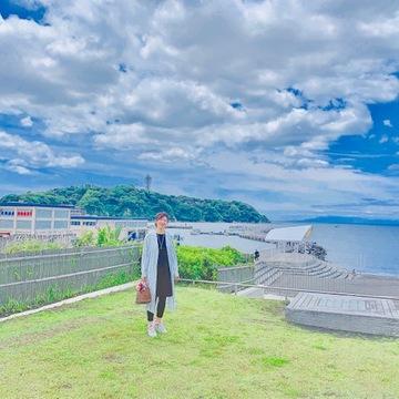 プチプラファッションで、江ノ島海岸へ。