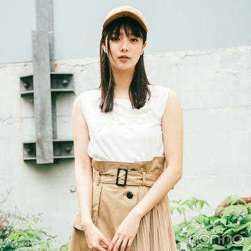 2019秋トレンド★ ブラウン系の変形スカートを8月→10月まで3か月着回し!