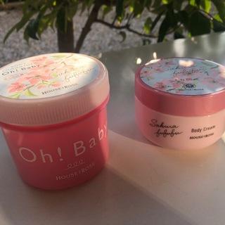 【Oh!Baby】桜の香りのボディスクラブとクリーム