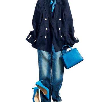 5. 新鮮な気持ちで着こなしたい、大好きなネイビージャケット