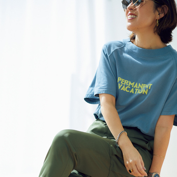 ロゴTシャツでストリート感をプラス 【スタイリスト大草直子の「おしゃれ塾」】