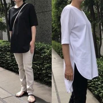 ATON (エイトン)を代表するアイコン的存在「ラウンドヘムTシャツ」を身長別バイヤーが着比べました!