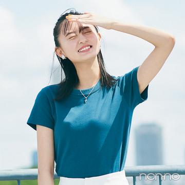 【真夏のスタイルアップ方程式】コンパクトTシャツ×ワイドパンツで脚長が叶う!