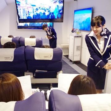 地上にいながら飛行機に!?ファーストクラスに6600円で乗れる!?