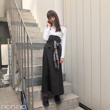 鈴木優華の私服はcry.のロングスカートが主役【モデルの私服】