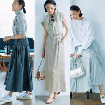 【甘くないスカート+ハンサムシューズコーデ4選】辛めスカートには上品なカジュアル感のある一足を