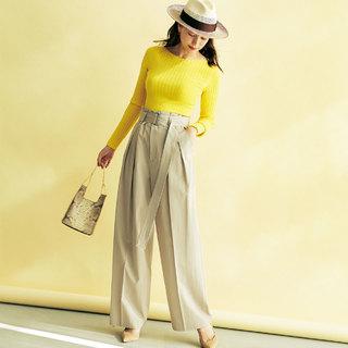40代を救うワイドパンツコーデをもっと素敵に着る方法|アラフォーファッション