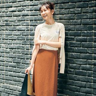 吸水速乾、接触冷感、UVカット!  エムセブンデイズのタックナロースカート