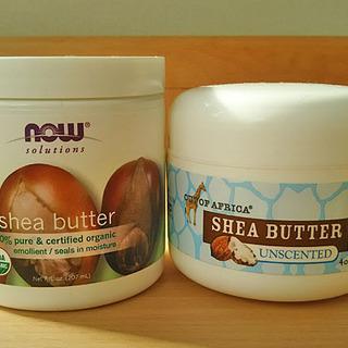 保湿成分たっぷりのシアバター。未精製と精製を使い比べ。どっちがお好み?