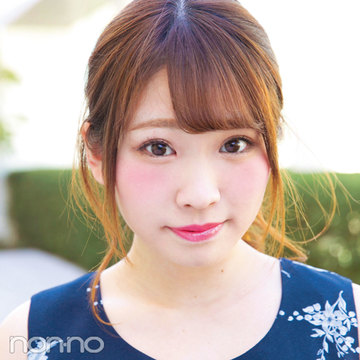 可愛らしい印象はNARSのチークで★non-noカワイイ選抜No.25中村みさきさん