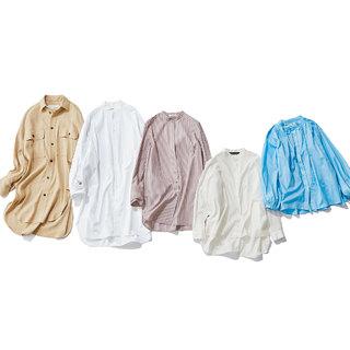 ロング&バンドカラーシャツ【2020夏・アラフォーのトレンド】
