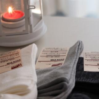 パンプス+靴下コーデには無印のオーガニックコットンソックスがおすすめ!