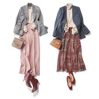 2019年冬・大人のための上品フェミニンコーデ実例【40代ファッションコーディネート】