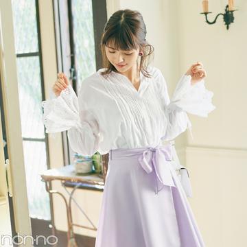 優子&友菜&優華が着る! 盛れる♡ きれい色スカートのコーデ4選