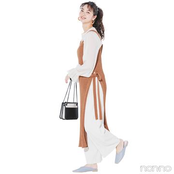 新川優愛はレイヤードで今っぽリラクシースタイル【毎日コーデ】