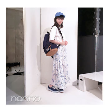 毎日コーデ★西野七瀬はリュック&スニーカーなのにこなれコーデ!