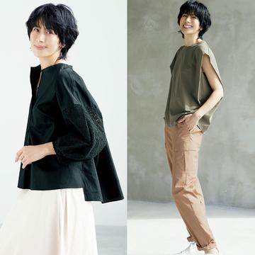 長谷川理恵さんが着こなす。アラフィーの理想の細見え服とは?