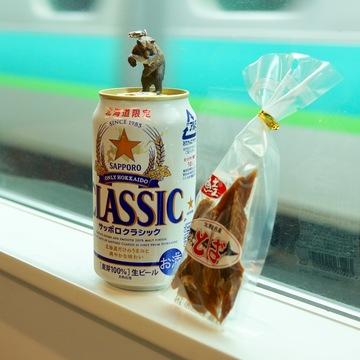 北海道気分に浸るなら、酒の肴は鮭のとば。