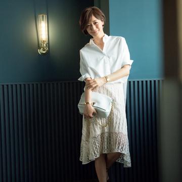 [富岡佳子 私服レシピ] <レーススカート> part1