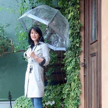 FULTONの傘で雨の日コーデ