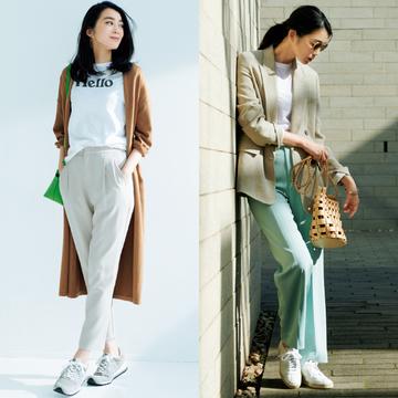 【春の主役級パンツ5選】カラーパンツで着こなしの幅を広げて