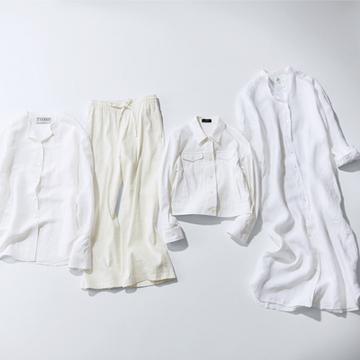 白は「清潔感」、ベージュは「上品さ」がカギ! 大人を彩るリネンアイテム8【色で指南する「大人のリネン」】