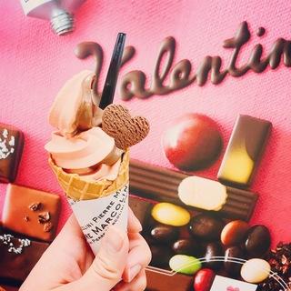 バレンタイン限定♡甘党さんにおすすめのマルコリーニソフト。