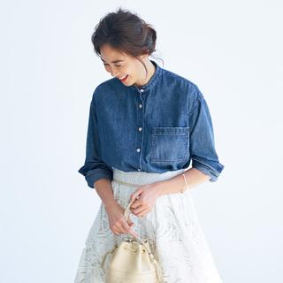 この春はシャツが着たい。「スタンドカラー」は襟の形に変化あり!