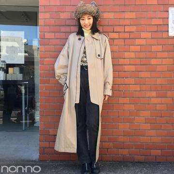 武田玲奈の冬コーデはアウラのコートにフライトキャップを合わせて【モデルの私服スナップ】
