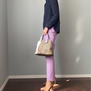 PLST リネンブレンドスティックパンツ アラフォー プチプラファッション