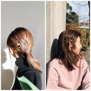 【ZARA】ぱっちんピンで不器用でも出来るヘアアレンジ
