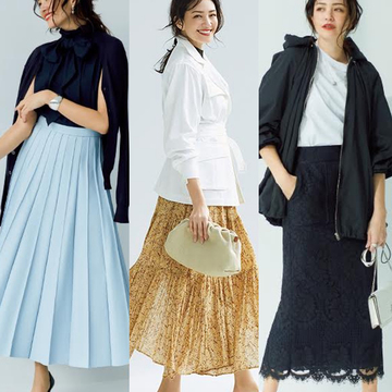 2020年春コーデの決め手はスカート!50代のおしゃれをランクアップする「華やぎスカート」