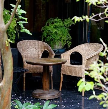 ロハスな隠れ家カフェにはお気に入りのジャージーワンピで♪