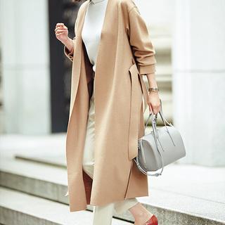 ■ワントーン配色で あかぬけ度アップ ロングコート