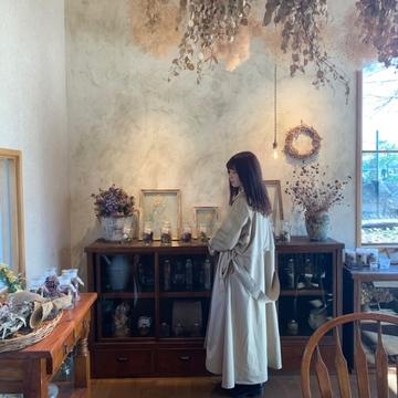 【 山梨 ➀ 】富士山が眺められる ドライフラワーカフェ
