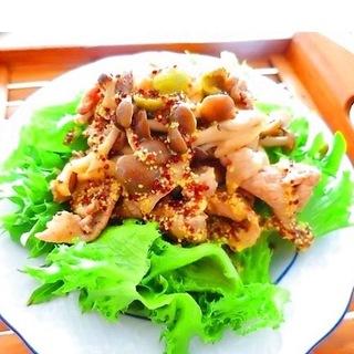 疲労撃退!豚肉のサラダ・粒マスタードドレッシングレシピ