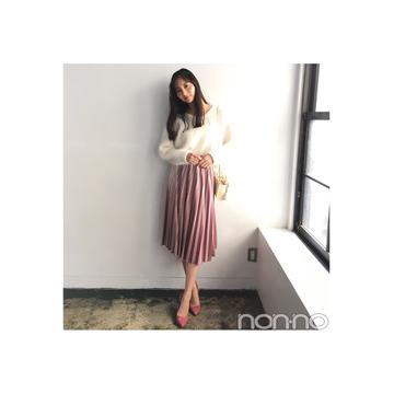 新川優愛の冬コーデは白×ピンクで可愛げ盛り♡【毎日コーデ】